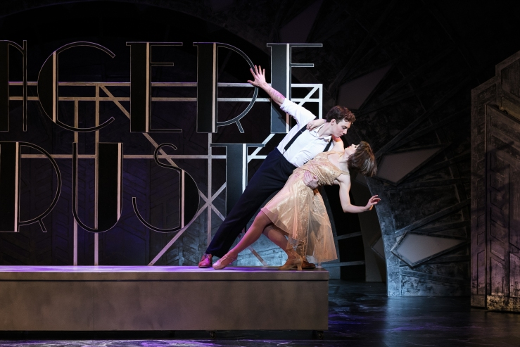 TMM - Sam Barrett as Jimmy Smith and Joanne Clifton as Millie (c) Darren Bell