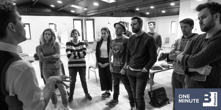 Cast and Creative team of One Minute at Barn Theatre