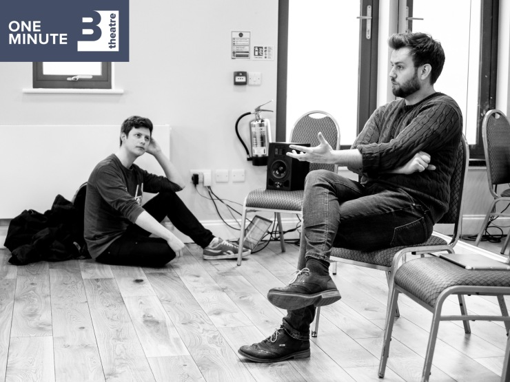 Iwan Lewis in rehearsals for One Minute