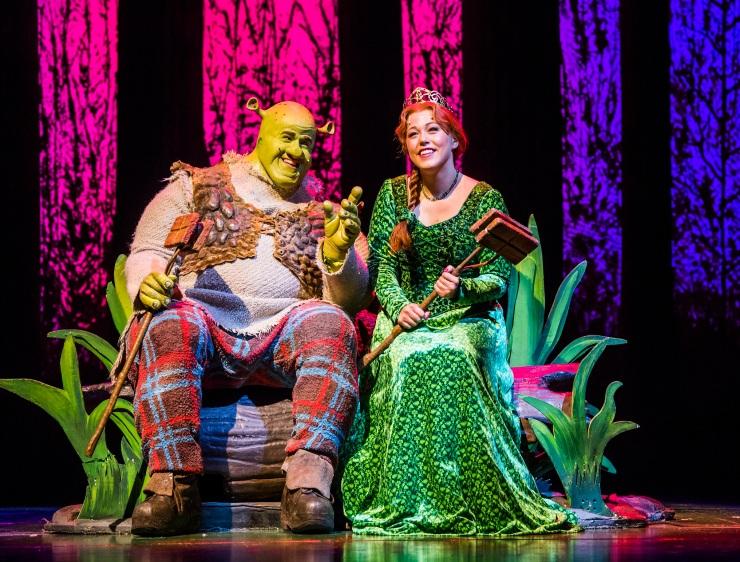 Steffan Harri and Amelia Lily in Shrek the Musical UK and Ireland tour 2018. Credit Tristram Kenton (2)
