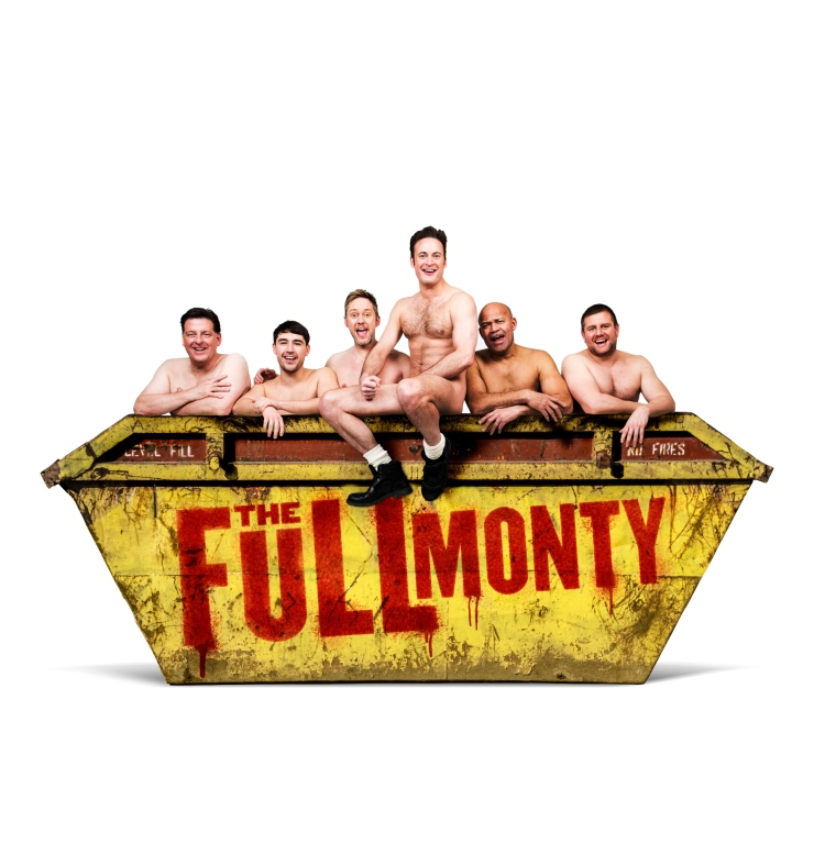 LtoR Andrew Dunn Joe Gill James Redmond Gary Lucy Louis Emerick & kair owen in The Full Monty credit Matt Crockett