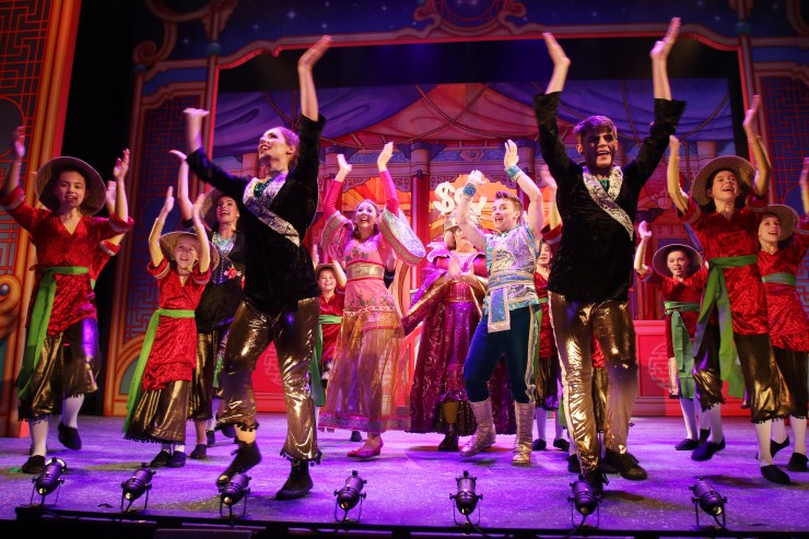The Everyman Theatre, Cheltenham 2018-19 Christmas Panto production of Aladdin - 29.11.2018 Picture by Antony Thompson - Thousand Word Media, NO SALES, NO SYNDICATION. Contact for more information mob: 07775556610 web: www.thousandwordmedia.com email: antony@thousandwordmedia.com The photographic copyright (© 2017) is exclusively retained by the works creator at all times and sales, syndication or offering the work for future publication to a third party without the photographer's knowledge or agreement is in breach of the Copyright Designs and Patents Act 1988, (Part 1, Section 4, 2b). Please contact the photographer should you have any questions with regard to the use of the attached work and any rights involved.