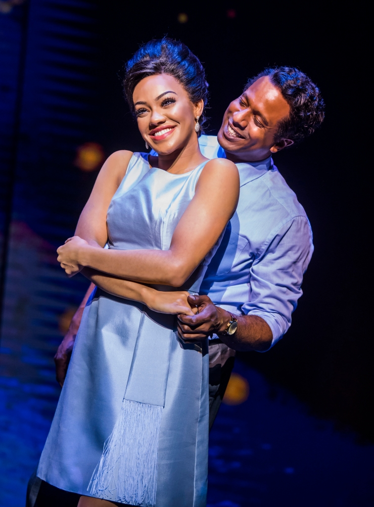 7. motown the musical. karis anderson 'diana ross' and edward baruwa 'berry gordy'. photo tristram kenton