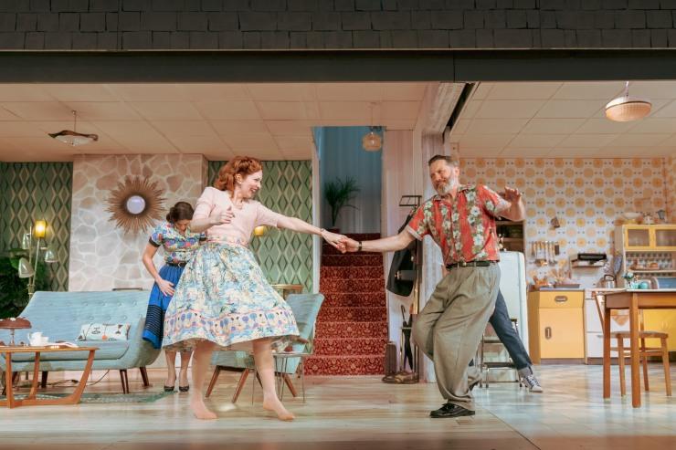 Home, I'm Darling - Katherine Parkinson as Judy and Hywel Morgan as Marcus - Credit Manuel Harlan