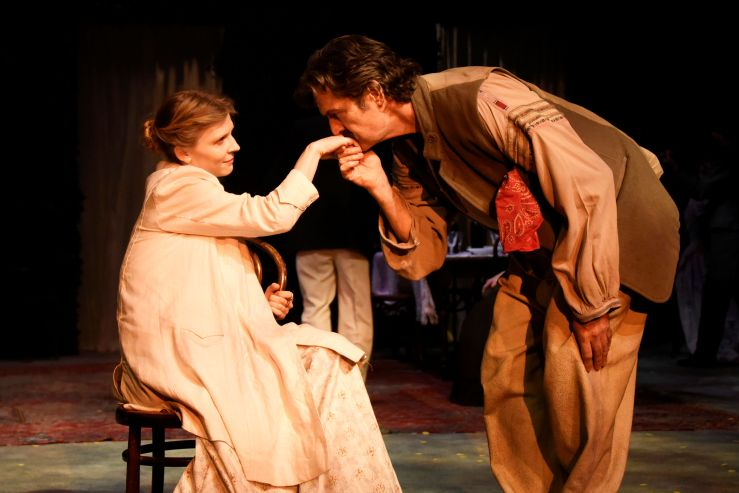 Uncle Vanya - Clémence Poésy as Elena and Rupert Everett as Vanya - Credit Nobby Clark