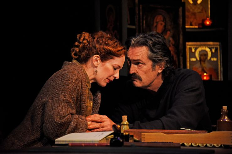 Uncle Vanya - Katherine Parkinson as Sonya and Rupert Everett as Vanya - Credit Nobby Clark