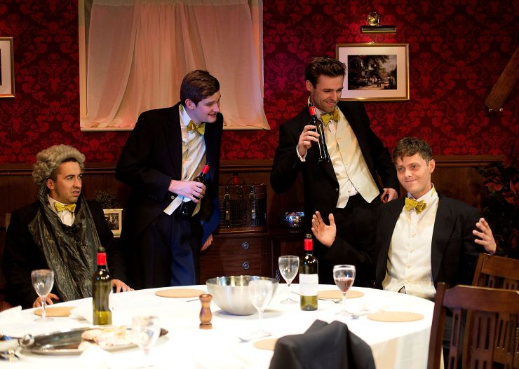 POSH - Matthew Entwistle, Taylor Mee, Jack Whittle and Tyger Drew-Honey in Posh - Credit PhotoTech