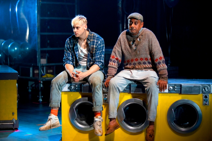Jonny Fines as Johnny and Gordon Warnecke as Papa_ My Beautiful Laundrette_Photography by Ellie Kurttz