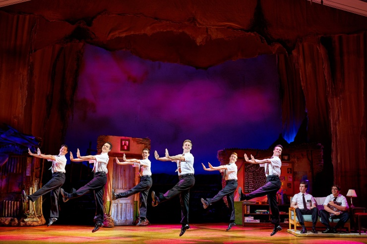 13 The company of The Book of Mormon Credit Paul Coltas